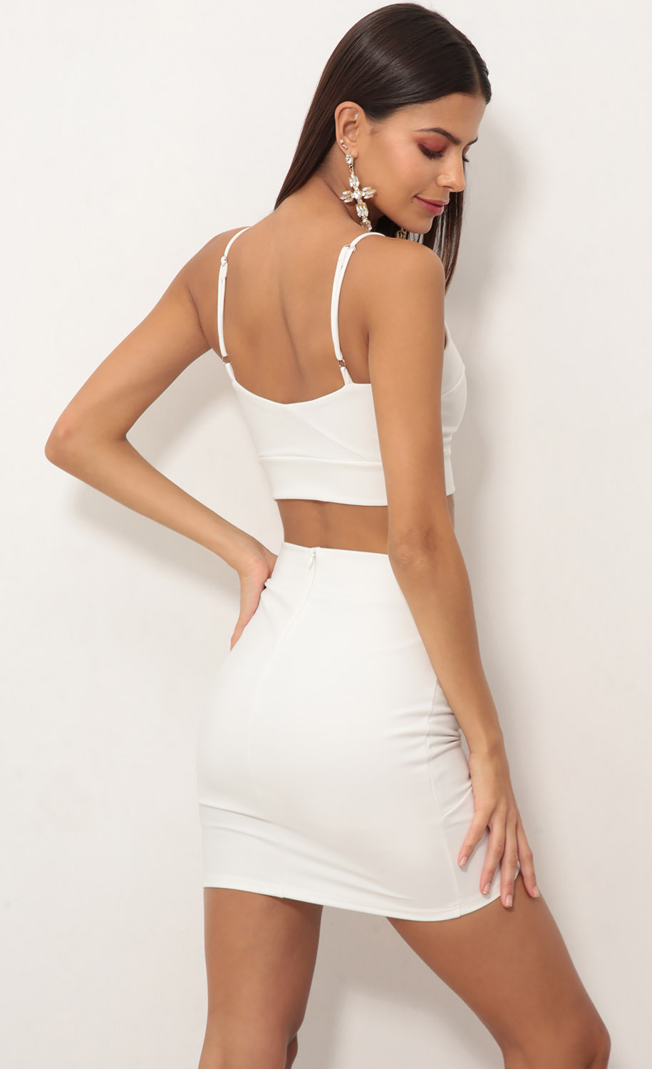 skirts  two piece dress set in white